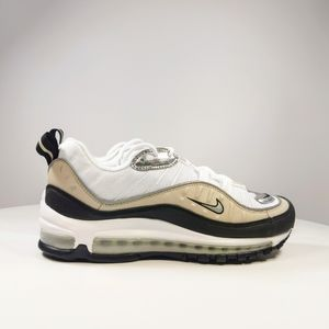 Nike Air Max 98 Silver Desert Shoes Size 9.5
